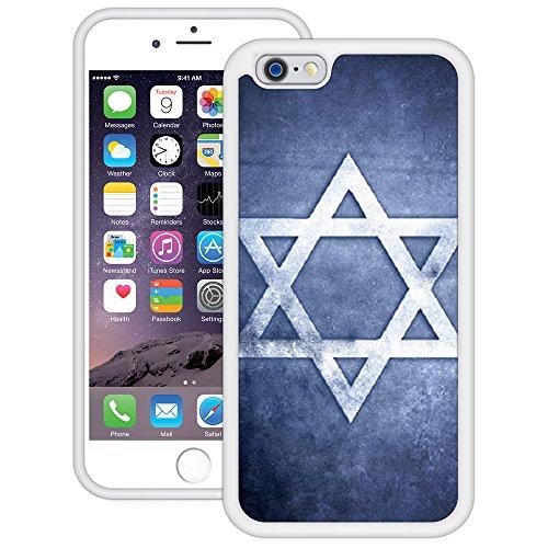 Davidstern   Handgefertigt   iPhone 6 6s (4,7')   Weiß TPU Hülle