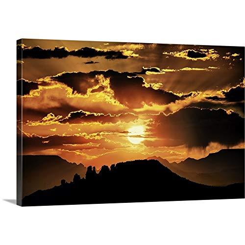 Sunset in Sedona, Arizona Canvas Wall Art Print, 18