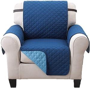 Elegante Luxurious Reversible RECLINER Furniture Protector,75 x 65 Blue / Light Blue