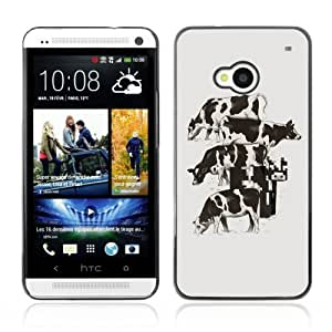 YOYOSHOP [Funny Pixel Cow Illustration] HTC One M7 Case by lolosakes