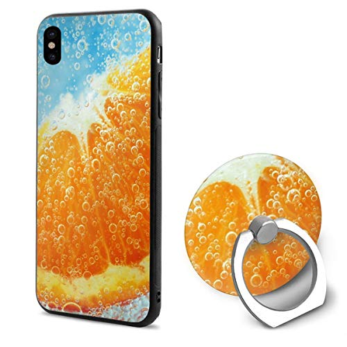 Orange, Clove, Water, Liquid iPhone X Mobile Phone Shell Shell Ring Bracket Cover Cases ()