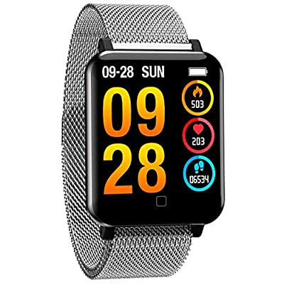 Fitness Tracker Blood Pressure Heart Rate Monitor Blood Oxygen Activity Pedometer Big Fitness Tracker Sleep Monitor for Women Men Kids from Yihou