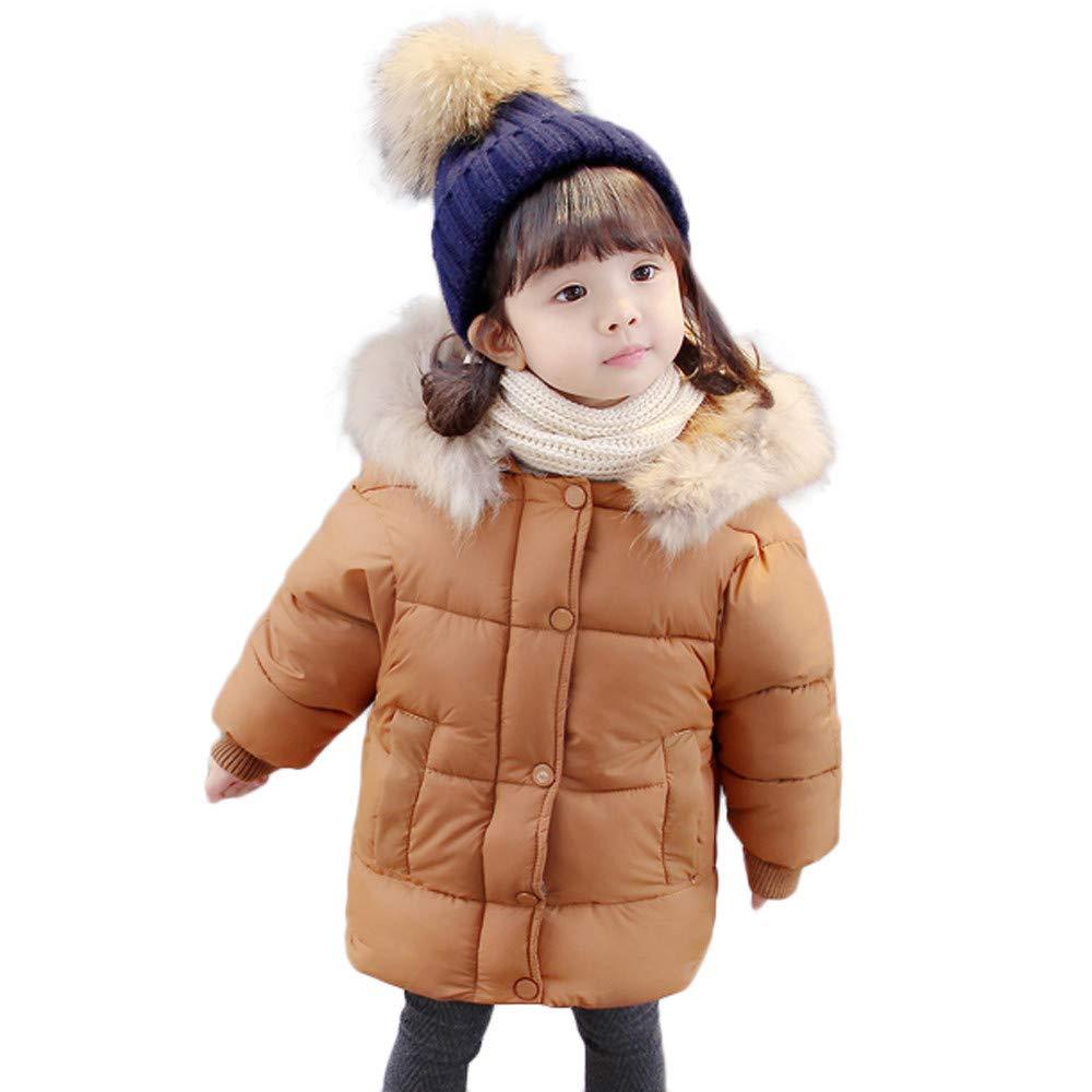 OHQ Baby Mädchen Daunenjacke Kleinkind Winterjacke Kinderjacken Winter Warm Mantel Dicke Kleidung Floral mit Kapuze Winddicht Mantel OHQFV3F