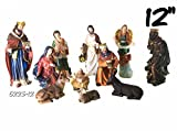 Nativity Set 12 Inch New / Nacimiento Navideno Set de 11pcs Nuevo 12 Pulgadas