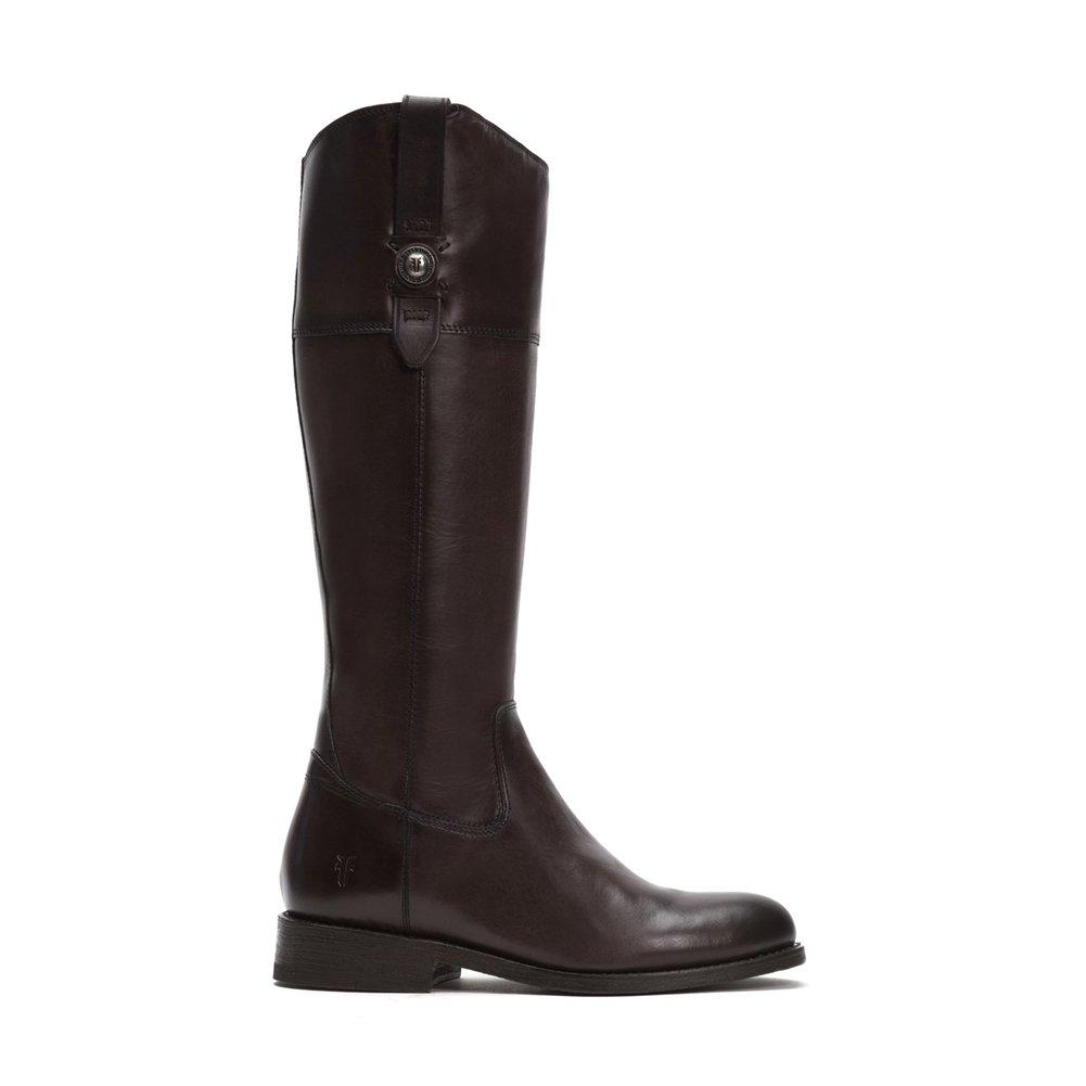 Dark Grey Smooth Vintage Leather Frye Women's Jayden Button Tall Shaft Boot