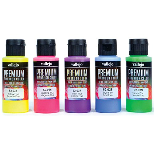 Acrylicos Vallejo Fluorescent Colors Premium Model Paint Set