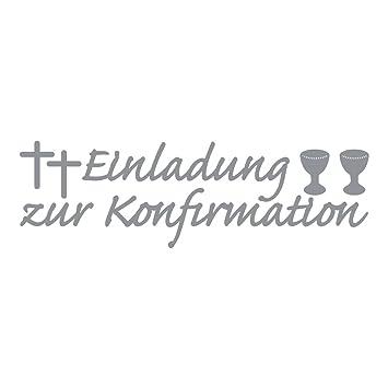 Toll Rayher 3389922 Klebeschrift: Einladung Zur Konfirmation, Bogen 10x23 C