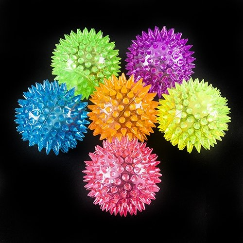 Light Up Spikey Ball with Sound - 12 per pack