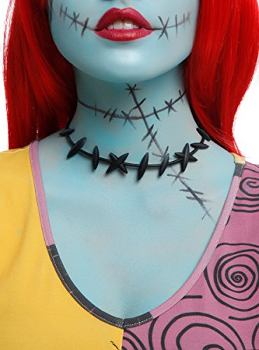 His And Her Zombie Costumes (Disney The Nightmare Before Christmas Sally Stitches Choker)