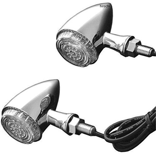 クリアキン Kuryakyn ティアドロップ ライト フロント アンバー クローム 2020-1042 2508 B079P6SZRS