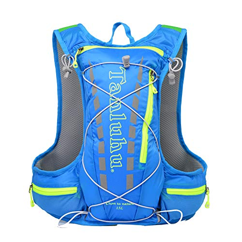Outry Hydration Backpack Pack, Lightweight Running Hydration Backpack 15L, Marathon Race Vest - Blue