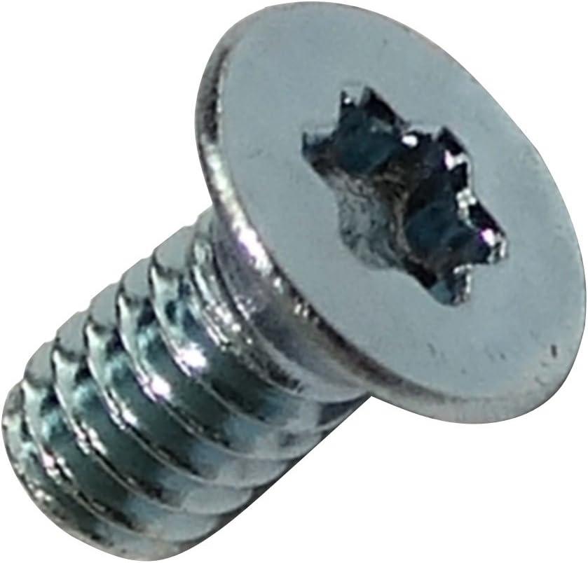 AERZETIX 50x Pernos roscados con cabeza conica M2x4mm acero galvanizado huella Torx T06 C18161