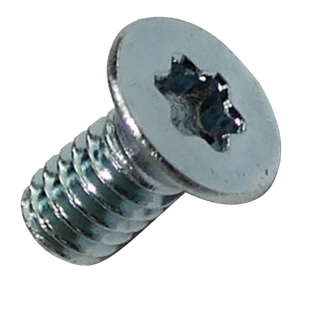 Aerzetix 50 Bolzen Schraube M2x4mm Stahl konischen Kopf Torx T06 verzinkt C18161