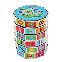 Prettyia Kids Mathematics Number Magic Cube Plastic Toy Twist Puzzle Brain Gaming