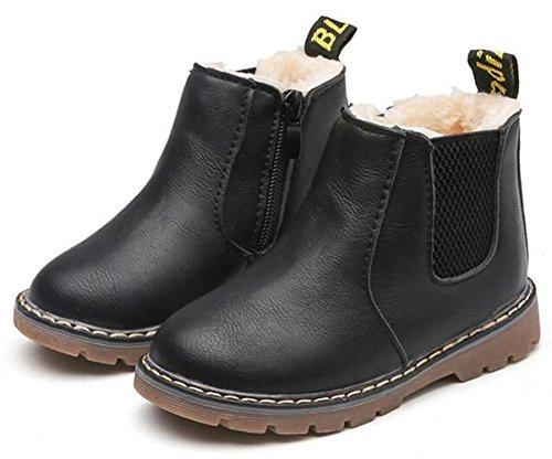 Picture of WUIWUIYU Boys' Girls' Round Toe Side Zipper Waterproof Short Ankle Boots (Toddler/Little Kid/Big Kid)