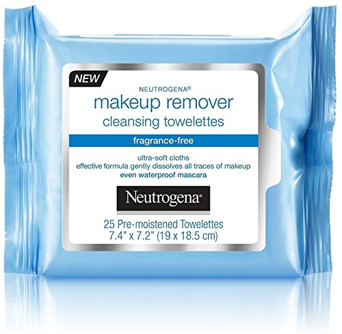 (Neutrogena Make-Up Remover Cleansing Towelette, Fragrance-Free 25 ea (Pack of 4))