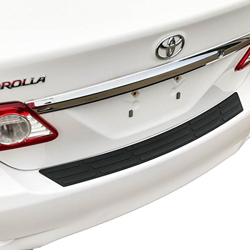 Red Hound Auto Replacement Rear Bumper Protector 2011-2013 Compatible with Toyota Corolla Scratch Cover Custom Fit Black