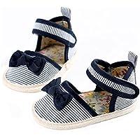 Euone 0-18M Baby Girl Comfortable Bowknot Cloth Prewalker Crib Shoes