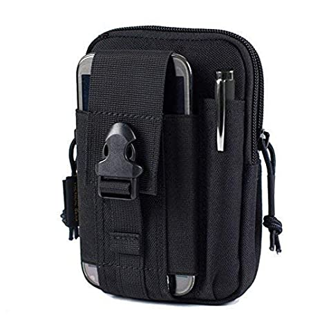 84d207e690 CARRY TRIP Tactical Outdoor Waist Bag- Multifunctional Molle Pouch (Black)   Amazon.in  Bags