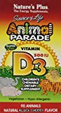 Animal Parade Children's Vitamin D3 500 IU Chewable - 90 Chewable