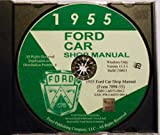 1955 FORD FACTORY REPAIR SHOP & SERVICE MANUAL CD - INCLUDES Mainline, Customline, Fairlane, convertibles, Station Wagons, Courier, and Thunderbird