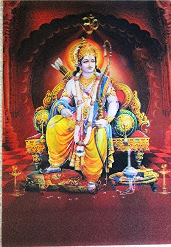 Lightahead Beautiful 3d P O Picture Poster Hindu Lord Ram Ram Darbar Images Great Diwali Present Prayer Room Gift Amazon Co Uk Kitchen Home
