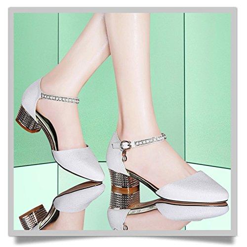 Sommer Weiß Weibliche Schuhe HWF Einzelne Größe Farbe 36 Damenschuhe Sandalen 6BP5wnq