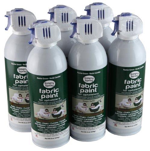 Simply Spray Upholstery Fabric Spray Paint 6 Pack Hunter -