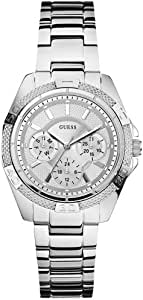 Guess Mini Phantom Women's Silver Dial Stainless Steel Band Watch - W0235L1