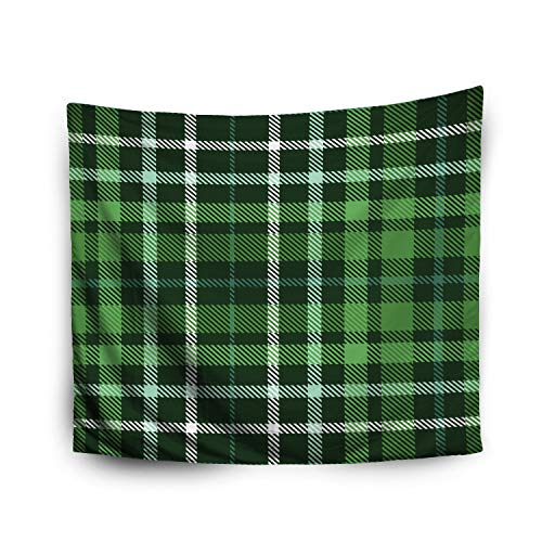 - Jacrane Tapestry Wall Hanging 50x60 Inches Christmas Plaid Check Pattern in Dark Green Forest Green Myrtle Aqua White Art Tapestries Bedroom Living Room Home Decor Wall Hanging Tapestries