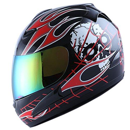 Motorcycle Helmet With Flames - 3