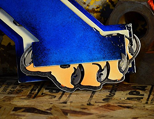 Gear New University of Kentucky 3D Vintage Metal College Man Cave Art, Large, Blue/White/Brown by Gear New (Image #5)
