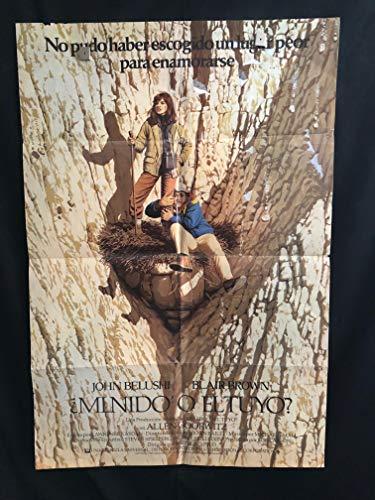 Continental Divide 1981 Spanish Original Vintage One Sheet Movie Poster, Comedy, John Belushi, Blair Brown
