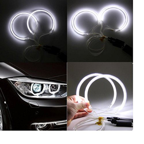 Ecosin Fashion 4xFor BMW 3 Series E46 E36 E38 E39 CCFL Angel Eye Halo Light White No (Red E36 Sedan)