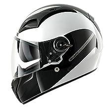 Shark Vision-R S2 Inko Helmet (White/Black/Red, X-Small)