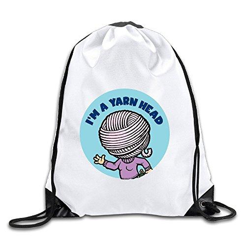 BENZIMM I Am A Wool Head Drawstring Backpacks/Bags