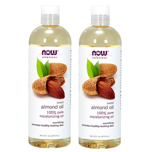 (Now Foods Almond Oil 16oz (2-Pack) Total)