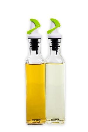 oil-vinegar de oliva vinagrera botellas de vidrio 255 270 ml Juego de 2 con