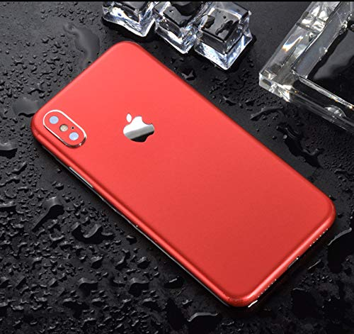iPhone Xs MAX Skin Wrap,2 Pack Ultra-Thin Oil-Proof Anti-Scratch Back Sticker Decal Protective Film Cover for iPhone X XR (Red, iPhone Xs - Wrap Apple