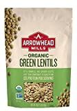Arrowhead Mills Organic Green Lentils, 16-Ounce Bags  (Pack of 12)
