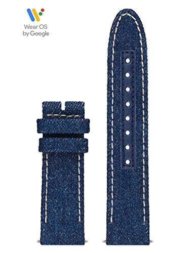 GUESS CS1001S9 20mm Leather Calfskin Blue Watch Strap