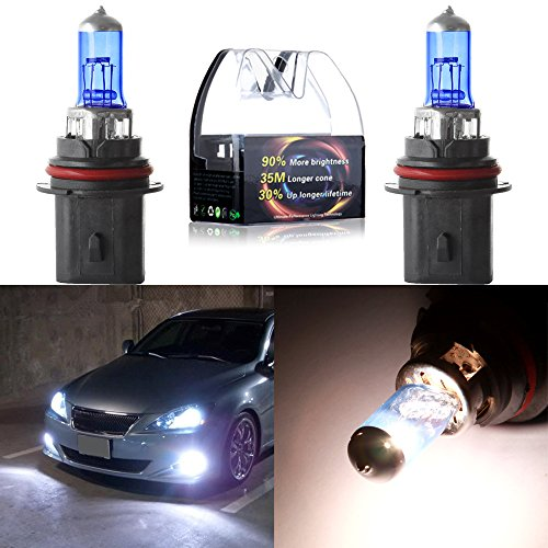cciyu 2cs New HB1/9004 12V 5900K High Performance Super White Halogen Xenon Headlight Bulb ()