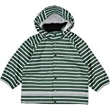 Polarn O. Pyret Classic Stripe RAIN Jacket (2-6YRS) - Garden Topiary/4-6 Years