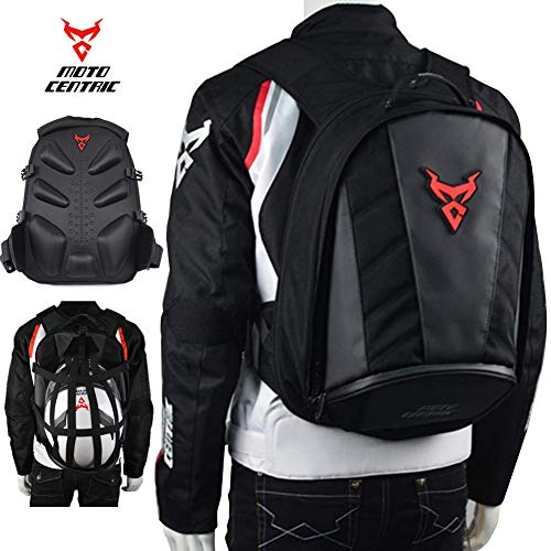 MotoCentric Motorcycle Leather Waterproof Backpack Riding
