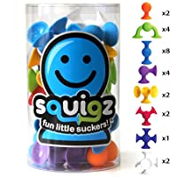 Fat Brain Toys Juego de 24 piezas Squigz Starter original - Construcción por succión