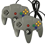 Pomilan Game gaming pad console Controllers For N64 (Gray two packs)