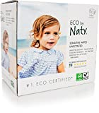 ECO by Naty Baby Wipes, Unscented, 3 boxes of 56 (168 Count)