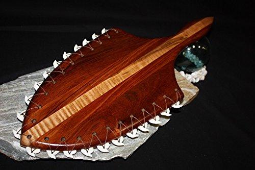 Hawaiian Koa Lei O Mano 21'' - 22 Large Shark Teeth - Hawaii Heritage by TikiMaster
