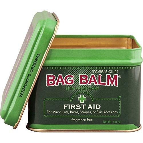 Vermont's Original Bag Balm Skin Protectant First Aid 4 Ounce Tin