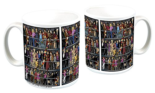 Doctor Who All Doctors And Companions Ceramic Drinking Mug (Tea, Cocoa, Coffee)